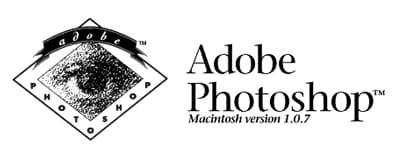 Первый логотип photoshop