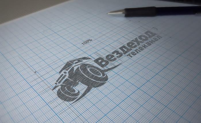 Построение логотипа внедорожник